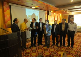 مراسم تجلیل از خیرین جشن یلدا در هتل آسمان (اردیبهشت 94)
